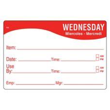 DayMark 1124673 ReMark™ 2 x 3 Wednesday Day Label - 500 / RL