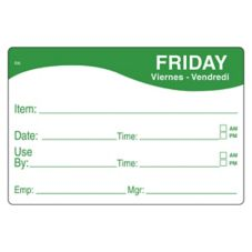 DayMark 1124675 ReMark™ 2 x 3 Friday Day Label - 500 / RL