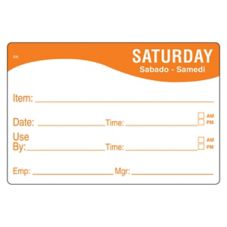 DayMark 1124676 ReMark™ 2 x 3 Saturday Day Label - 500 / RL