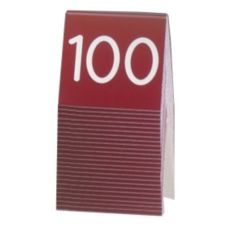 Cal-Mil® Red and White Engraved Table Tent (Numbers 76-100)