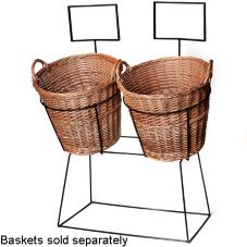 Willow Specialties 1DISRACK.2 Black Wrought Iron Double Display Rack