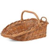 "Rattan Display Scoop Basket, 24"" x 19"" x 10"""
