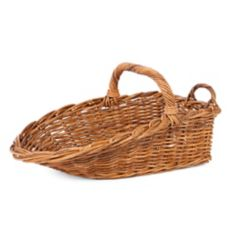 "Rattan Display Scoop Basket, 20"" x 16"" x 8"""