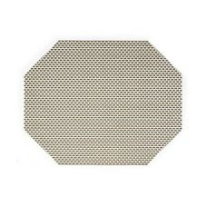 "FOH XPM068GRV83 11"" x 14"" Basketweave Placemat - 12 / CS"