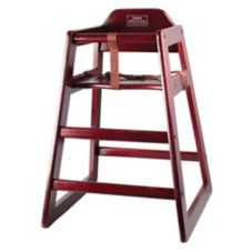 Winco™ CHH-103 Mahogany Stacking Unassembled Hi-Chair