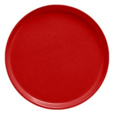 "Cambro 1400510 Camtray Signal Red 14"" Round Serving Tray - 12 /CS"