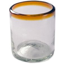 Amber Rim 12 oz All Purpose Glass
