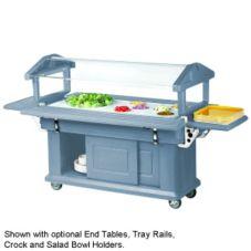 Cambro 6UBR401 Slate Blue 6 Ft. Ultra Food Bar w/ Storage - 1/EA