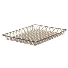 "Dover Metals D-255DBR Natural Bronze 18"" x 24"" x 2"" French Pastry Tray"