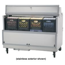 "Beverage-Air 58"" School Milk Cooler with 5"" Casters"