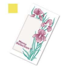Dinex® DX6SM081109 Iris Garden Yellow Patient Menu - 2000 / CS