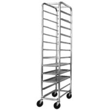 "Channel  Aluminum Platter Rack w/ 5"" Spacing, 12 Platter Capacity"