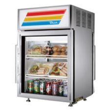 True® S/S Pass-Thru Countertop Refrigerator, 5 Cubic Ft