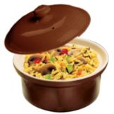 Hall® China 64-BR Brown 12 Oz. Round Covered Casserole - 24 / CS