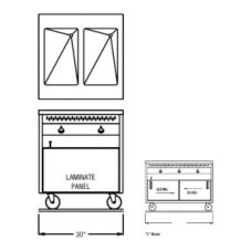"Randell® RAN HTD-2S 30"" Open Cabinet Base Hot Food Table"