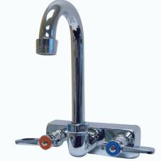 "Advance Tabco K-59 Splash Mounted 3-1/2"" Gooseneck Faucet"