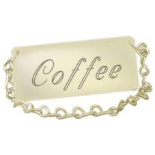 "Cal-Mil 276-1-011 Gold 3.5 x 1.5"" Spigot Coffee Chain - 12 / CS"