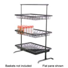 Dover Metals D-810BST Steel / Pewter Look 3-Tier Tilted Pane Stand