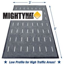 MightyMat!® STYLE 20 Classic II Black 3' x 5' Slip-Resistant Mat