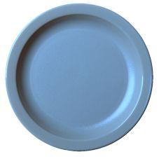 "Cambro 65CWNR401 Camwear Slate Blue 6-9/16"" Narrow Rim Plate - 48 / CS"