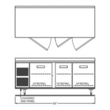 "Randell® 9225-32-7 Refrigerated 84""L Side Mounted Worktop"