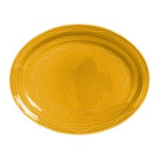 Syracuse 903033615 Cantina Saffron 9-5/8 In. Carved Platter - 12 / CS