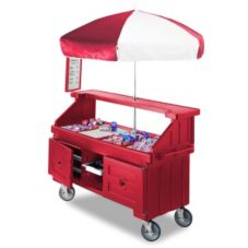 Cambro® CVC724158 Camcruiser Vending Cart with 4 Food Pan Wells