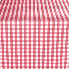 "Marko 57665252SM001 Fashion 52"" x 52"" Red Gavin Check II Tablecloth"