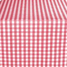 "Marko 57665252SM001 Fashion 52"" x 52"" Red Gavin Check II Tablecloth"