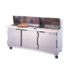 Beverage-Air SPE72-10 Elite  Refrigerated 3-Door Sandwich Counter