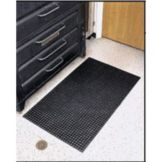 Black Dish Machine Mat, 3' x 5'