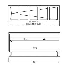 """Randell® 3315-240 Electric 78"""" 240 V Hot Food Table"""