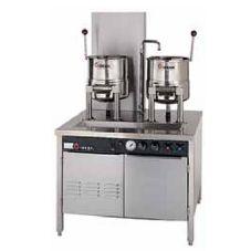 Groen™ 2-CTDC/3-20-SG (2) Gas 20-Qt Tilting Kettle w/ Hand Tilt