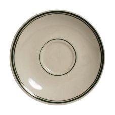 "Tuxton® TGB-036 Green Bay 5"" Eggshell Demitasse Saucer - 36 / CS"