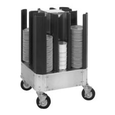 CresCor 501-10-240 Alum. Poker Chip Design Non-Adjustable Dish Dolly