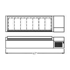 "Randell® CR9067 Refrigerated Countertop 67"" Condiment Rail"