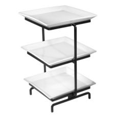 Gourmet Display® Black 3-Tier Display Tower With Platters