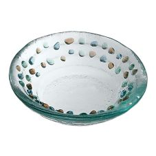 "Bon Chef 100512 Pebbles Collection 6"" Round Glass Bowl - 24 / CS"