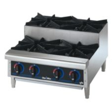 Star® 604HF-SU Star-Max® Gas Step-Up 4-Burner Hot Plate