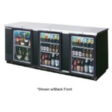 Beverage-Air BB94G-1-S Refrigerated  Backbar Cabinet w/ 3 Glass Doors