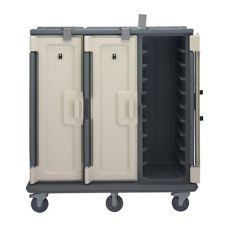Cambro Granite Gray Tall 3-Comp. Meal Delivery Cart for 15 x 20 Trays