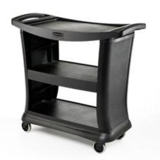 Rubbermaid® FG9T6800BLA Executive Black Service Cart