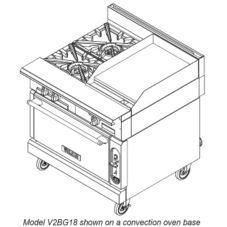 Vulcan Hart V2BG18C V Series Gas Range w/ Griddle and Convection Oven