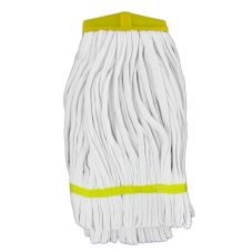 Yellow Knit Cotton Twist-On Mop Head w/ Scouring Pad Insert