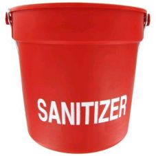 Red 10 Qt Sanitizer Pail w/ Handle