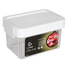 ClickClack® 500002 Airtight Storers .45 Qt Canister With White Lid