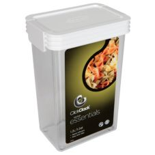 ClickClack 503002 Airtight Storers 1.25 Qt Canister With White Lid
