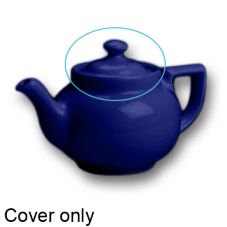 Hall China 22-C-BC Blue Knob Cover for 16 Oz. Boston Tea Pot - 12 / CS