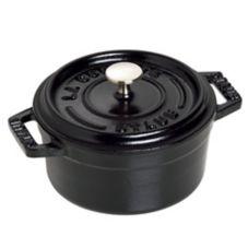 Staub USA 1101025 Black Matte Cast Iron 0.25 Qt Mini Round Cocotte