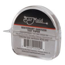 Bar Maid DIS-202 Quaternary Sanitizer Test Strips Dispenser - 12 / CS